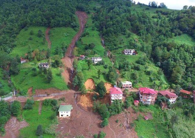 Artvin'deki sel felaketi havadan görüntülendi