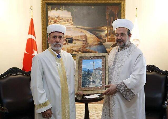 Diyanet İşleri Başkanı Prof. Dr. Mehmet Görmez- Kırım Müftüsü Emirali Ablayev