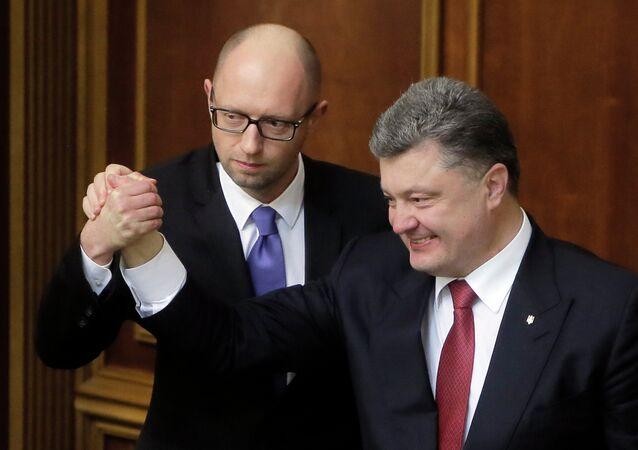 Pyotr Poroşenko & Arseniy Yatsenyuk