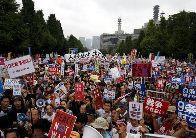 Japonya'da protesto