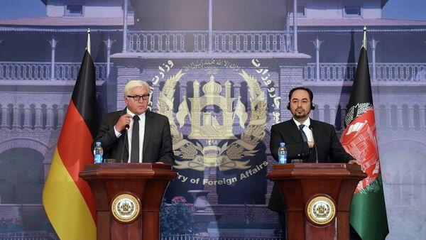 Frank-Walter Steinmeier - Selahaddin Rabbani - Sputnik Türkiye