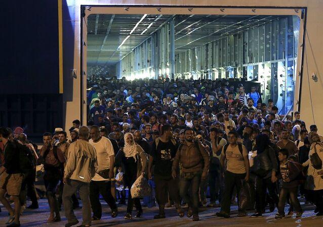 Yunanistan - Pire limanı - Sığınmacı