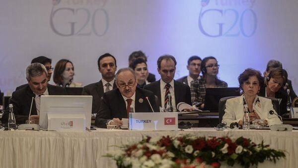 G20 Çalışma ve İstihdam Bakanları toplantısı - Sputnik Türkiye