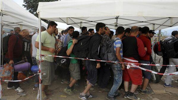 Yunanistan'daki sığınmacılar - Sputnik Türkiye