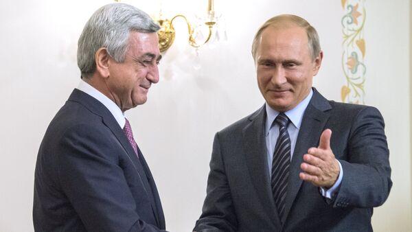 Serj Sarkisyan - Vladimir Putin - Sputnik Türkiye