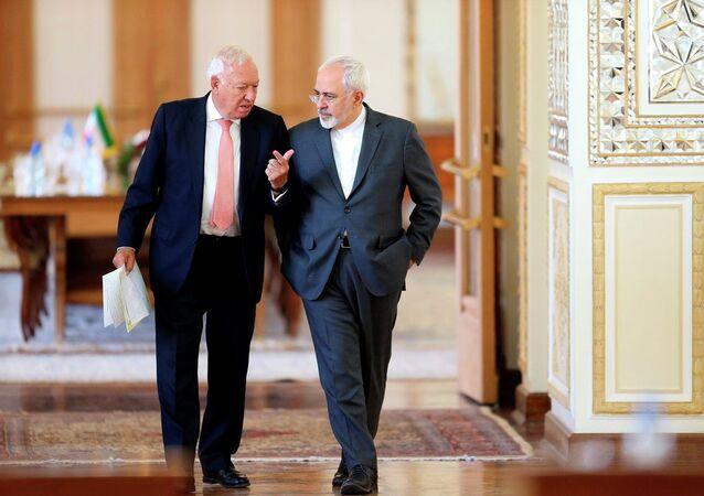 İspanya Dışişleri Bakanı Jose Manuel Garcia-Margallo- İran Dışişleri Bakanı Muhammed Cevad Zarif