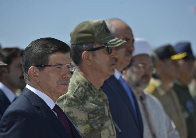 Ahmet Davutoğlu Dağlıca şehitleri için yapılan törende