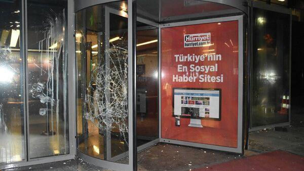 Hürriyet Gazetesi'ne saldırı - Sputnik Türkiye