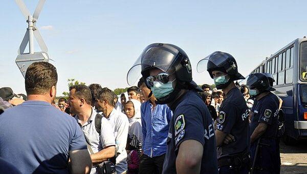 Macaristan'daki sığınmacılar - Sputnik Türkiye