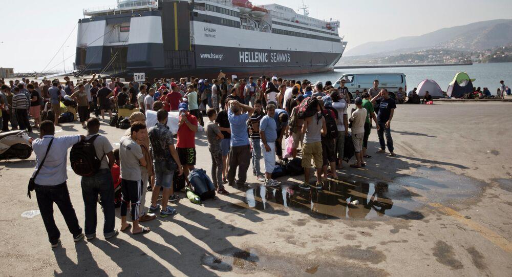 Midilli'de Suriyeli mülteciler