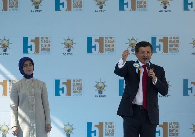 Başbakan Ahmet Davutoğlu ve eşi Sare Davutoğlu