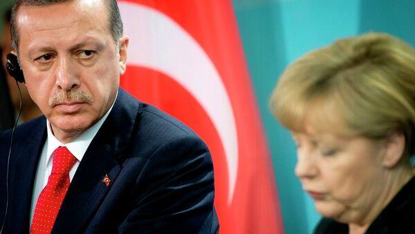 Erdoğan&Merkel - Sputnik Türkiye
