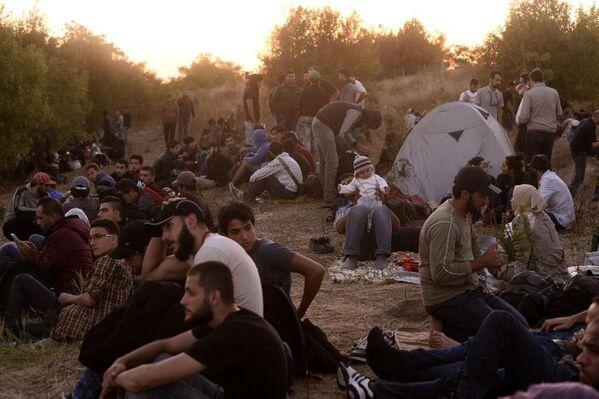 Edirne'den Yunanistan'a gitmek isteyen sığınmacılar - Sputnik Türkiye