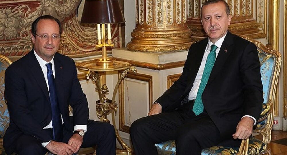 Recep Tayyip Erdoğan & François Hollande