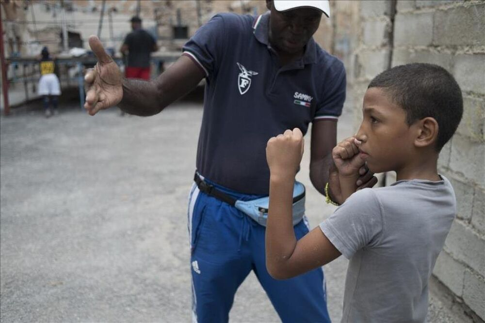 Kübalı çocukların boks tutkusu