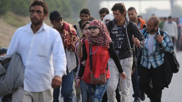 Avrupa'ya gitmek isteyen sığınmacılar, Büyük İstanbul Otogarı'ndan Edirne istikametine yürüyüşlerine devam etti. - Sputnik Türkiye