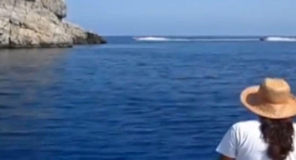 Jet-ski ile göçmen kaçakçılığı kamerada