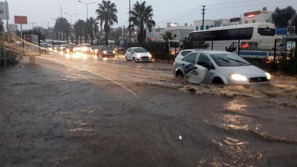 Bodrum'da sel baskını - Sputnik Türkiye