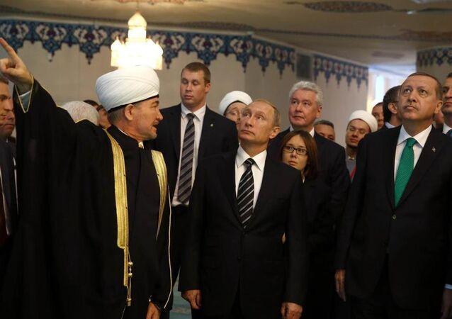 Erdoğan - Putin - Moskova Ulu Camii