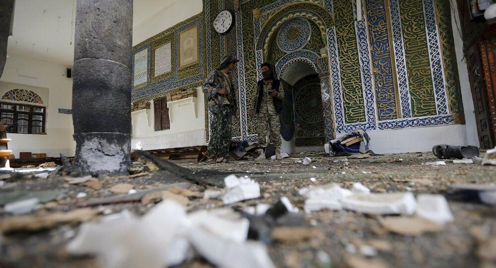 Yemen'deki Balili Camii'nde bayram namazı sırasında patlama