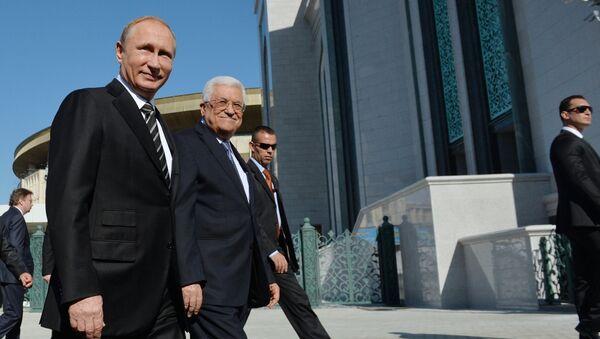 Rusya Devlet Başkanı Vladimir Putin - Filistin Devlet Başkanı Mahmud Abbas - Sputnik Türkiye