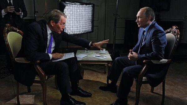 Russian President Vladimir Putin gives interview for CBS and PBS channels - Sputnik Türkiye