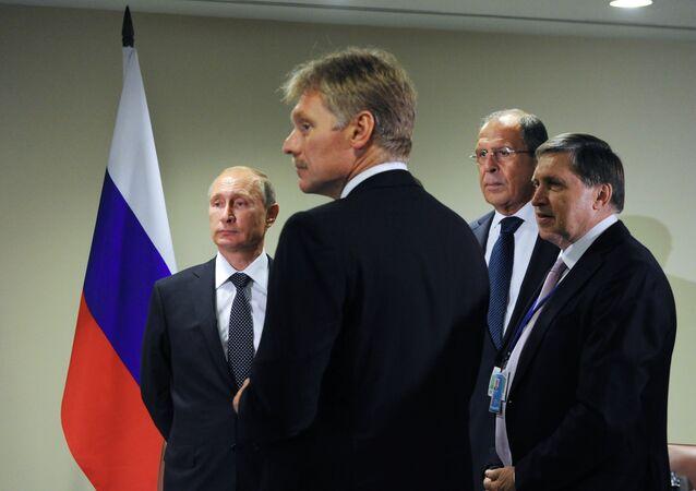 Vladimir Putin - Sergey Lavrov - Yuriy Uşakov - Dmitriy Peskov