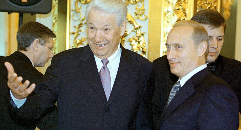 Vladimir Putin & Boris Yeltsin