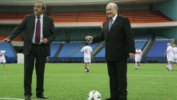 Michel Platini & Joseph Blatter - Sputnik Türkiye