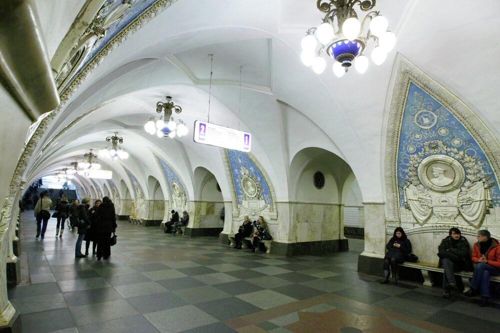 Taganskaya metro istasyonu.