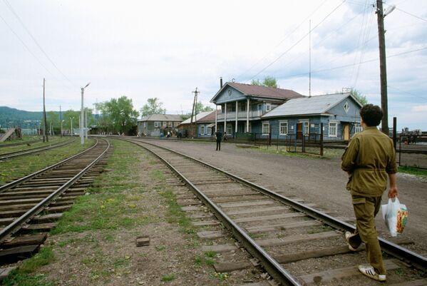 'Baykal' tren istasyonu. - Sputnik Türkiye