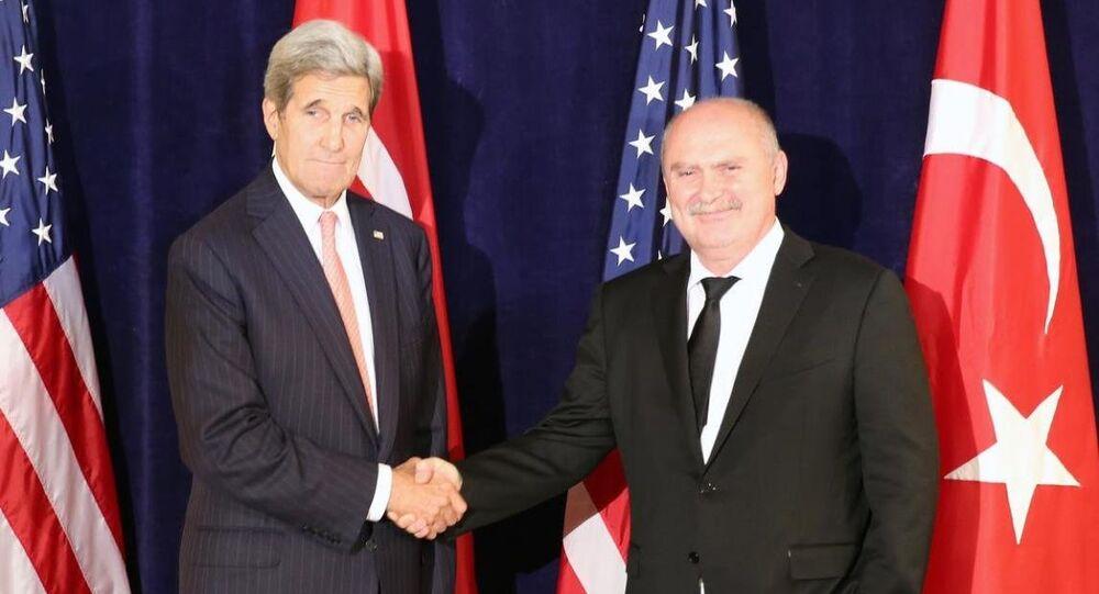ABD Dışişleri Bakanı John Kerry- Dışişleri Bakanı Feridun Sinirlioğlu