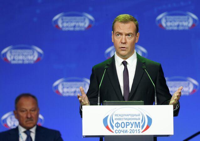 Rusya Başbakanı Dmitriy Medvedev Sochi-2015 Forumu'nda konuştu