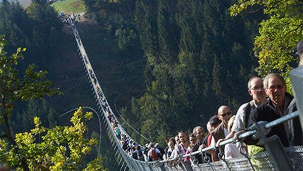 Almanya'da 365 metrelik asma halat köprü - Sputnik Türkiye