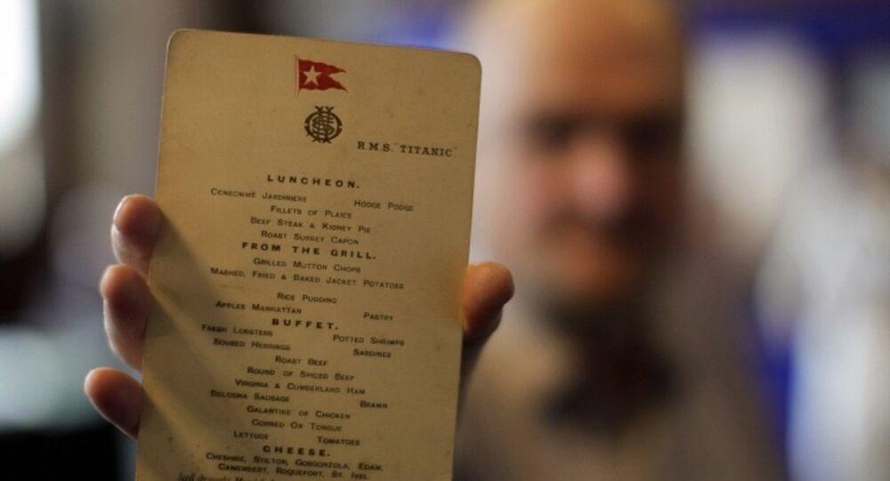 Titanic'te son öğle yemeği menüsüne 88 bin dolar