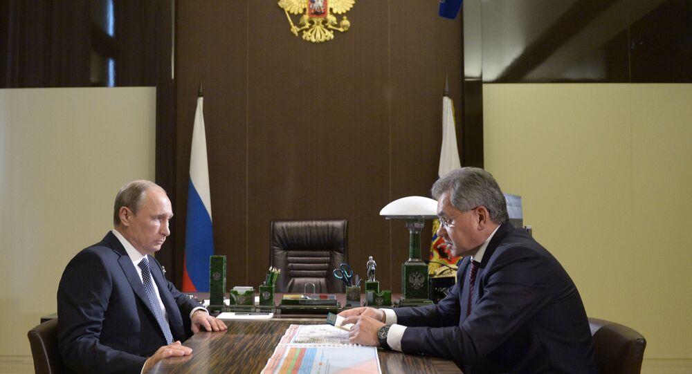Rusya Devlet Başkanı Vladimir Putin - Rusya Savunma Bakanı Sergey Şoygu