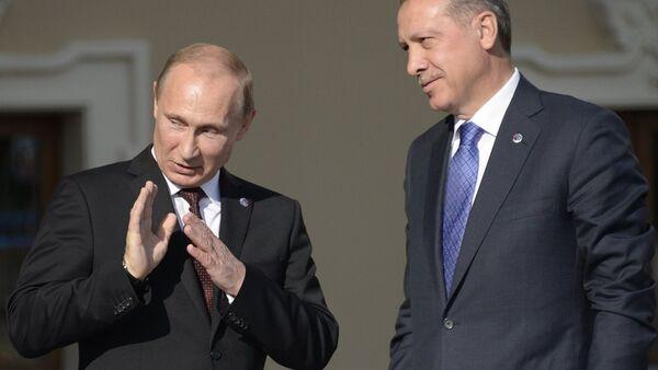 Rusya Devlet Başkanı Vladimir Putin - Cumhurbaşkanı Recep Tayyip Erdoğan - Sputnik Türkiye