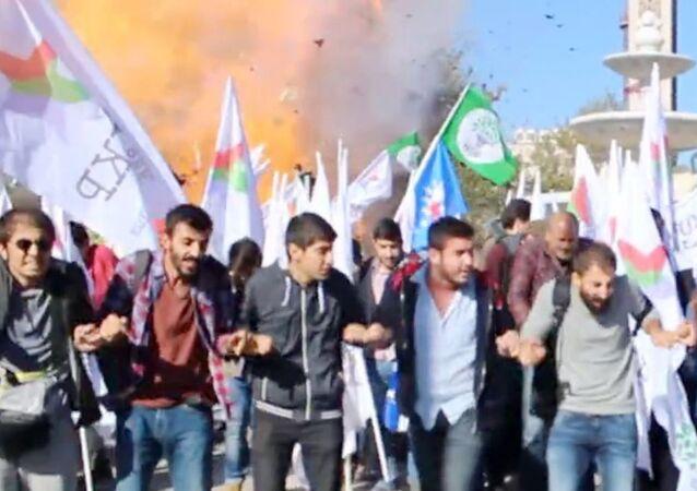 Ankara saldırısı patlama anı