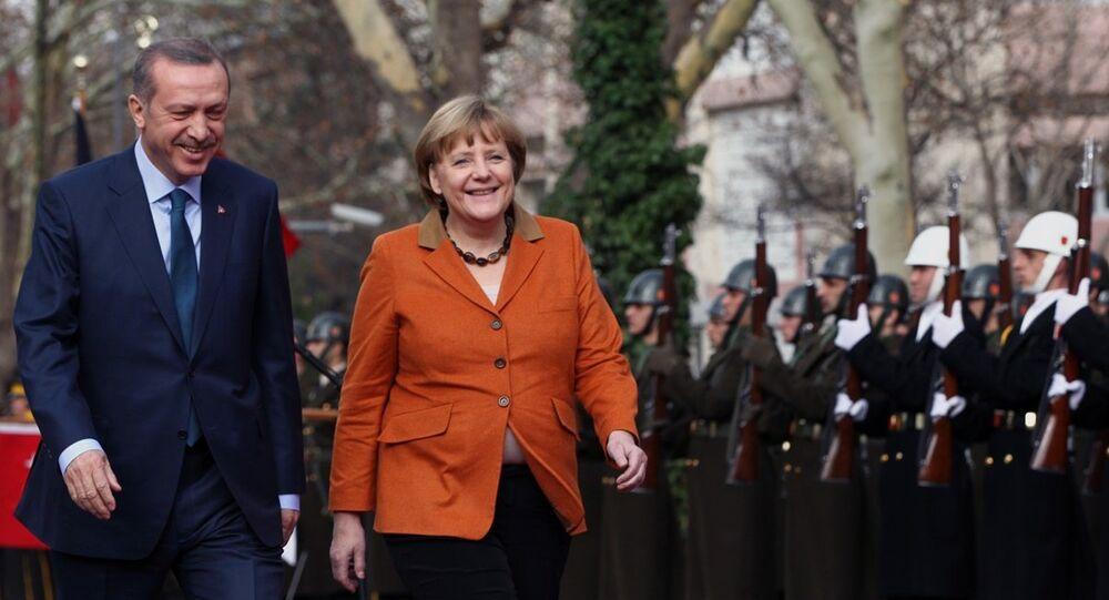 Türkiye Cumhurbaşkanı Recep Tayyip Erdoğan- Almanya Başbakanı Angela Merkel