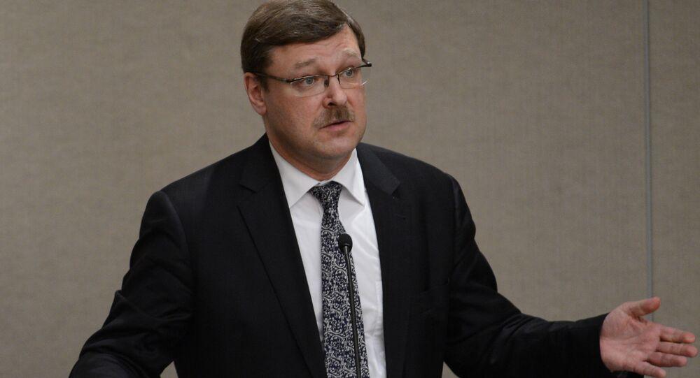 Rusya Federasyon Konseyi Dış İlişkiler Komitesi Başkanı Konstantin Kosaçev