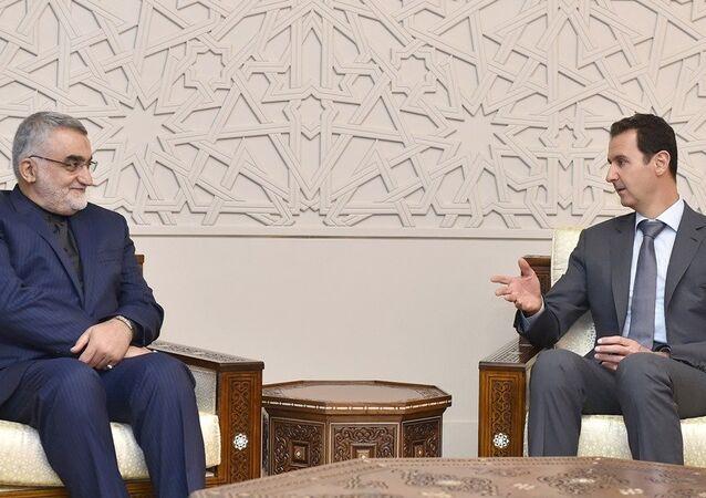 İran Meclisi Ulusal Güvenlik ve Dış Politika Komisyonu Başkanı Alaaddin Burucerdi, Şam'da Suriye Devlet Başkanı Beşar Esad'la görüştü.