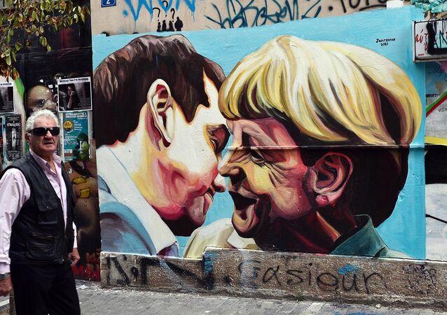 Angela Merkel - Aleksis Çipras - Yunanistan borç krizi
