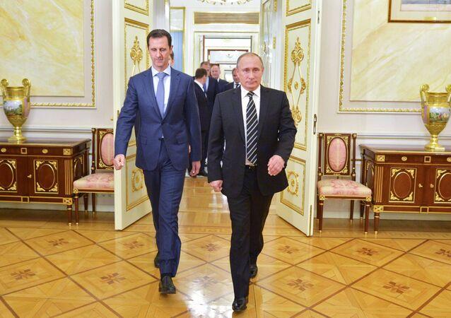 Rusya Devlet Başkanı Vladimir Putin - Suriye Devlet Başkanı Beşar Esad
