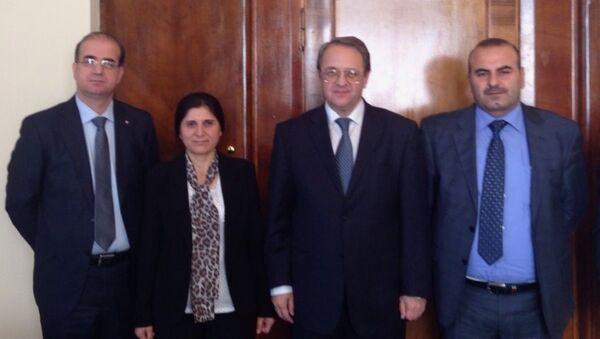 PYD heyeti, Rusya Dışişleri Bakan Yardımcısı Mihail Bogdanov'la Moskova'da biraraya geldi. - Sputnik Türkiye