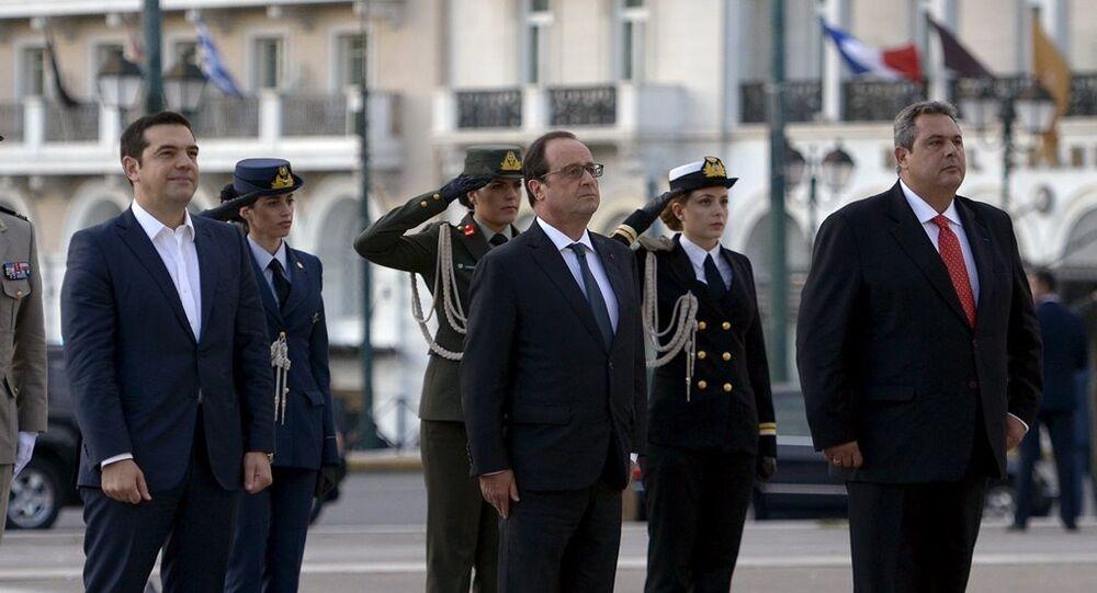 Fransa Cumhurbaşkanı François Hollande Atina'da