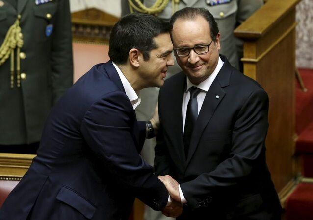 Yunanistan Başbakanı Aleksis Çipras - Fransa Cumhurbaşkanı François Hollande