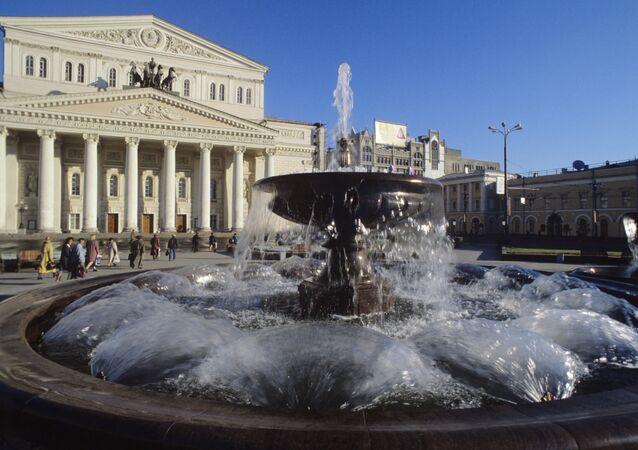 Moskova'da bulunan Bolşoy Tiyatrosu