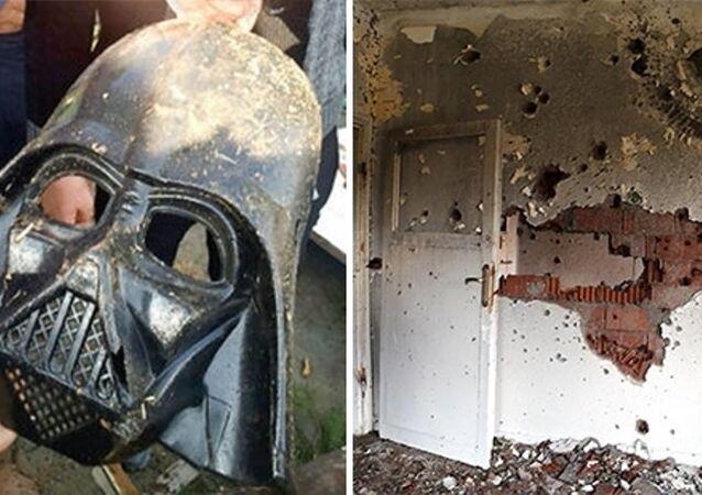 IŞİD'lilerin evinden Darth Vader maskeleri çıktı.