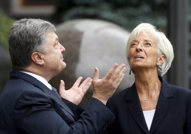 Ukrayna Devlet Başkanı Pyotr Poroşenko -  IMF Başkanı Christine Lagarde