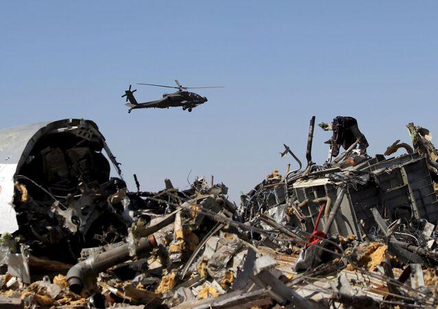 Sina Yarımadası'nda düşen Rus yolcu uçağı
